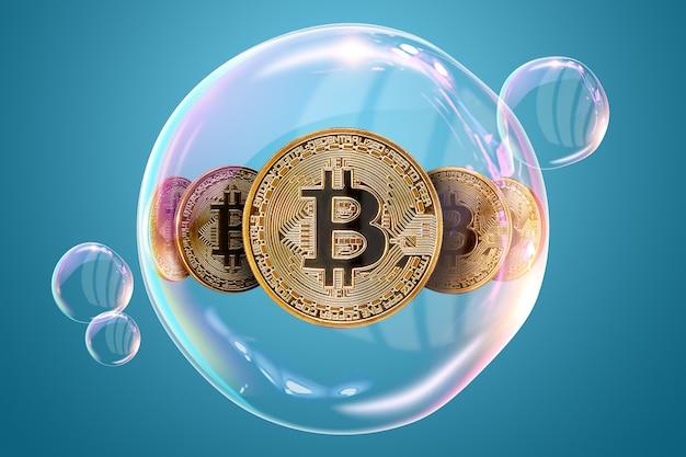 Bitcoins. elektronisches geld, kryptowährung.