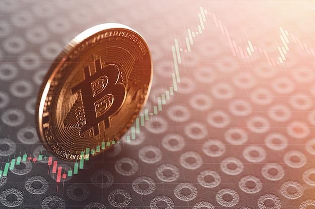 Bitcoins und virtuelles geld.