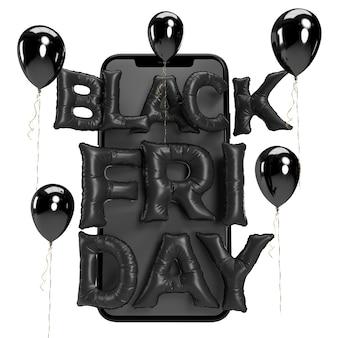 Black friday 3d-rendering. business concept marketing und digitales online-marketing