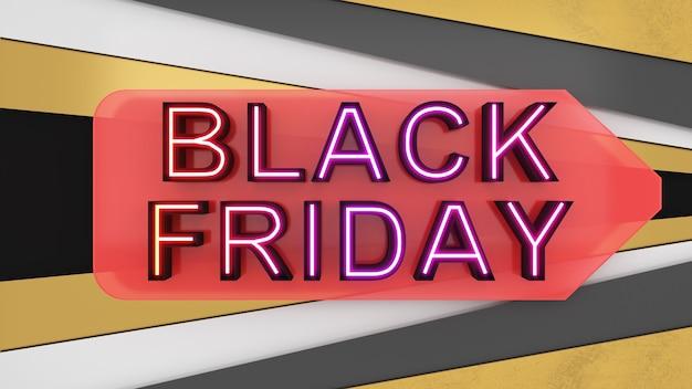 Black friday auf goldenem und schwarzem hintergrundfestivalsale-bannerabverkauf und rabatt