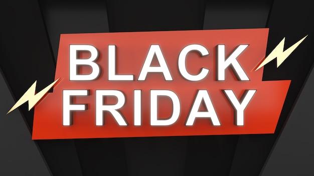 Black friday auf rotem und schwarzem hintergrundfestivalsale-bannerabverkauf und rabatt