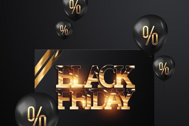 Black friday sale schriftzug in goldbuchstaben.