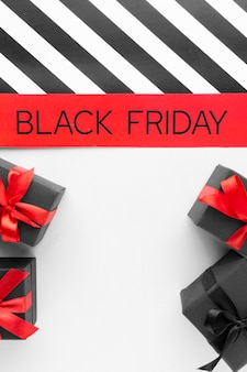 Black friday sortiment mit kopierraum