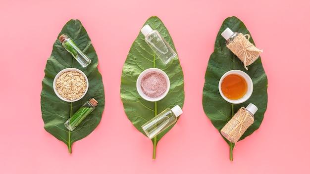 Blätter mit naturkosmetik