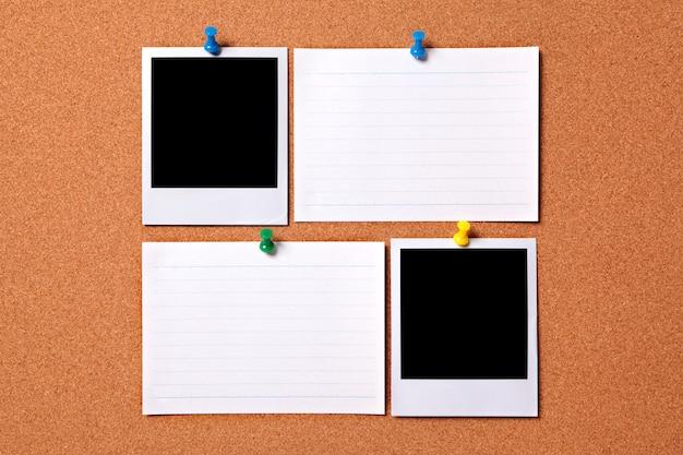 Blank polaroid fotoabzüge und karteikarten