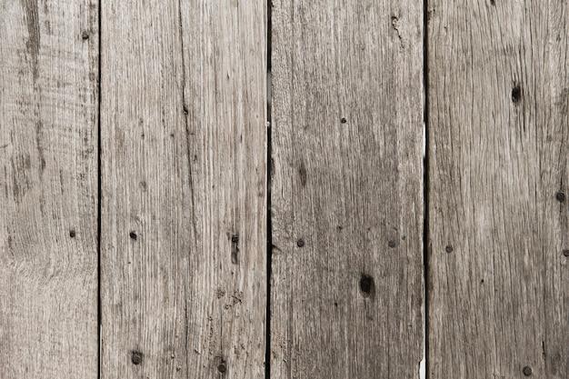 Blasse farbe des alten holzfußbodens für hintergrundbeschaffenheit mit rostnagel