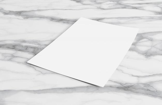 Blatt papier lokalisiert onwith schatten - wiedergabe 3d