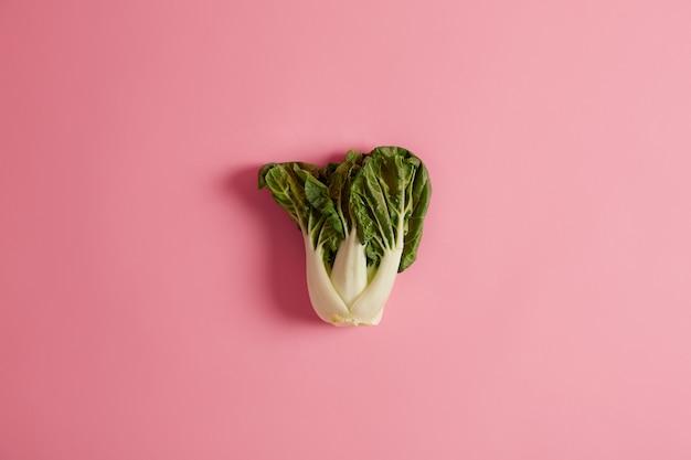 Blattgrünes gemüse als teil ihrer gesunden ernährung. bok choy, chinakohl ist eine gute ergänzung zu suppen und pommes frites. sie enthält nährstoffe, die ihrer gehirngesundheit, immunität und ihrem krebsschutz zugute kommen