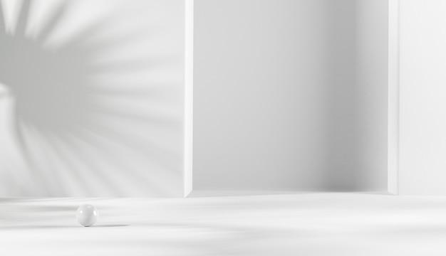 Blattschatten auf weißem hintergrund für produktpräsentation.