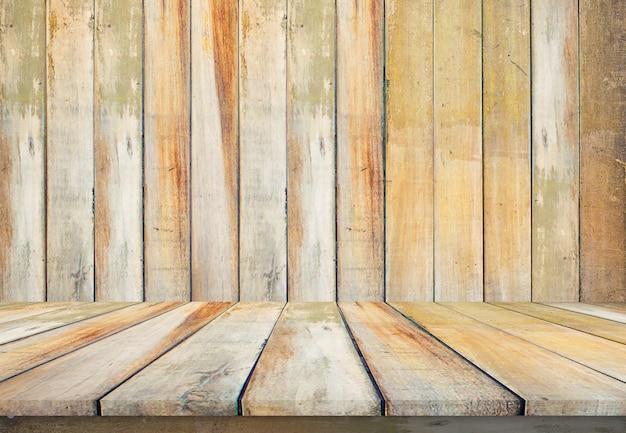 Blattweinlese-ausrichtungsbeschaffenheit des alten hölzernen tabellenbodenhintergrundes schöne mit natürlichem muster