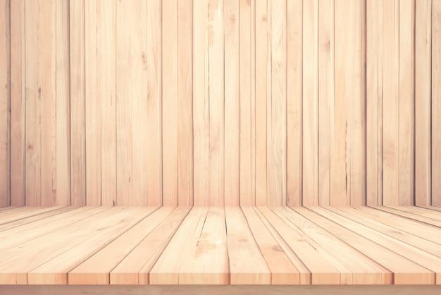 Blattweinlese-ausrichtungsbeschaffenheit des hölzernen tabellenbodenhintergrundes schöne