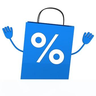 Blau einkaufstüte