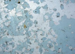 Blau rusty metal texture, geschält
