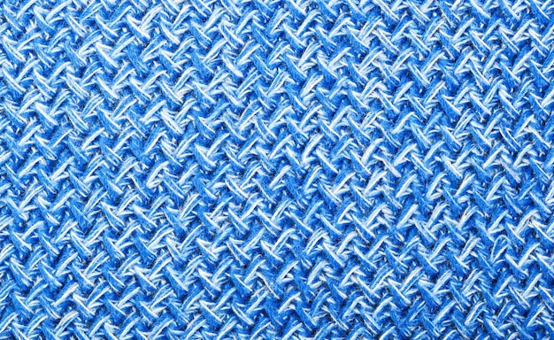Blau strickwolle