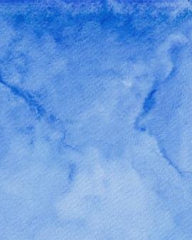 Blaue aquarell-hintergrundtextur, digitales papieraquarell