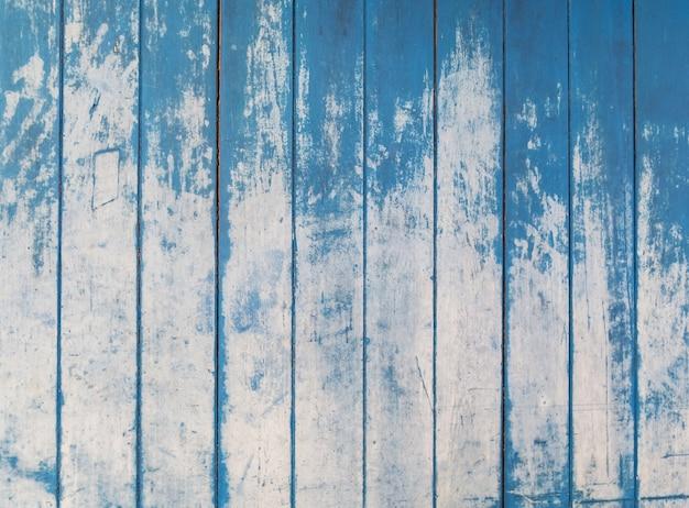 Blaue beschaffenheit des rauen bretterzaunbretthintergrundes