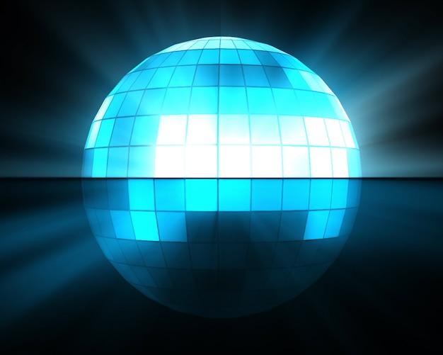 Blaue discokugel