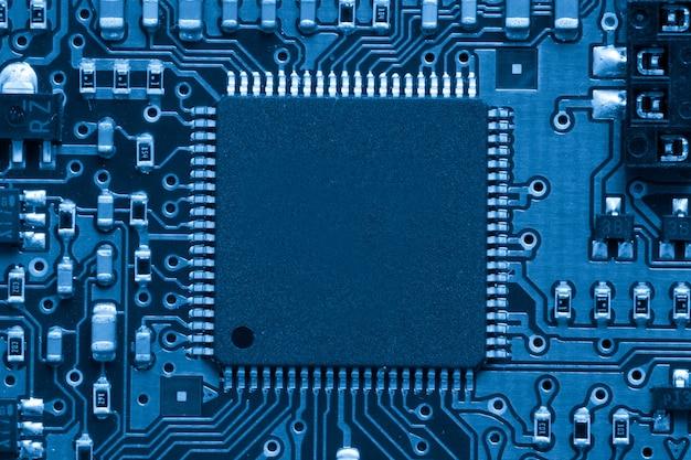 Blaue elektronische schaltung