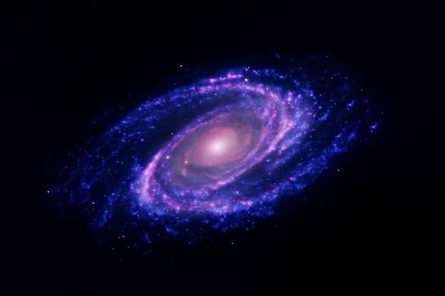 Blaue galaxie mit sternen. elemente dieses bildes wurden von der nasa bereitgestellt. foto in hoher qualität