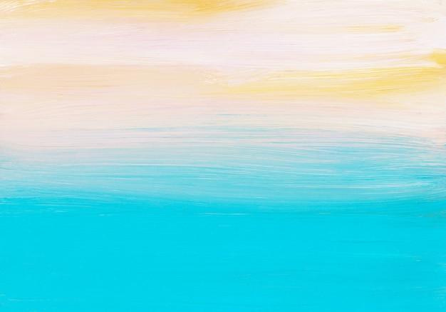 Blaue, gelbe, weiße abstrakte hintergrundmalerei. lichtverlauf. zeitgenössische kunst.