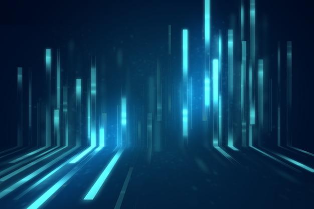 Blaue geometrische form
