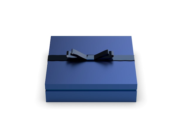 Blaue geschenkbox isoliert