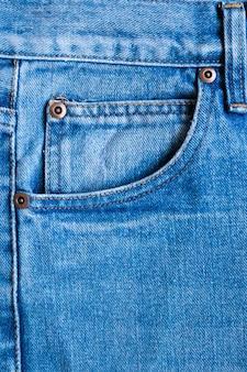 Blaue jeans jeans taschen textur hintergrund nahaufnahme