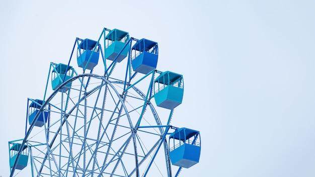 Blaue kabinen des verdammten rades