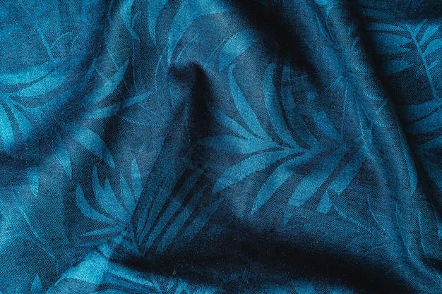 Blaue karierte stoffnahaufnahme, tischtuchstruktur, nahaufnahme.