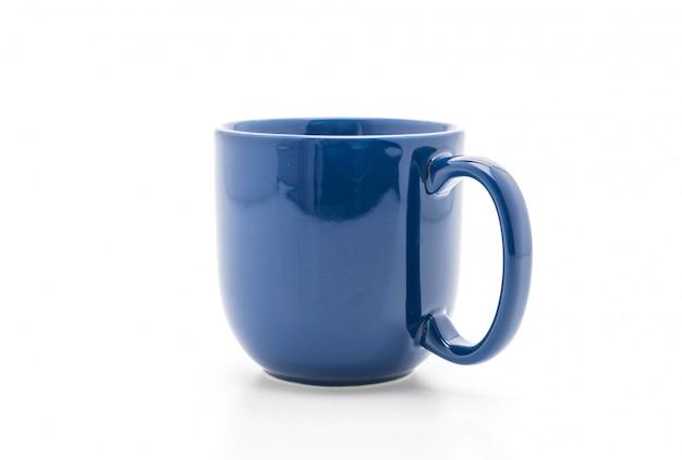 Blaue keramische tasse