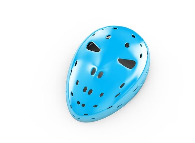 Blaue maske auf weißem hintergrund, 3d-darstellung