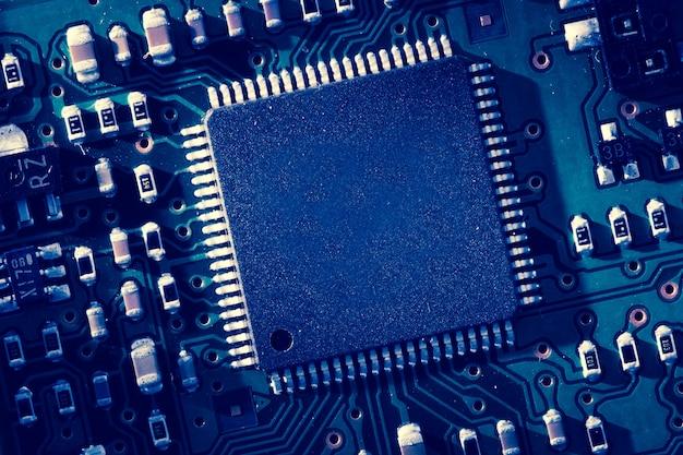 Blaue mikroelektronik