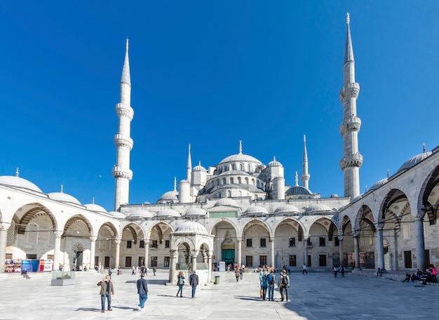 Blaue moschee minarette in istanbul