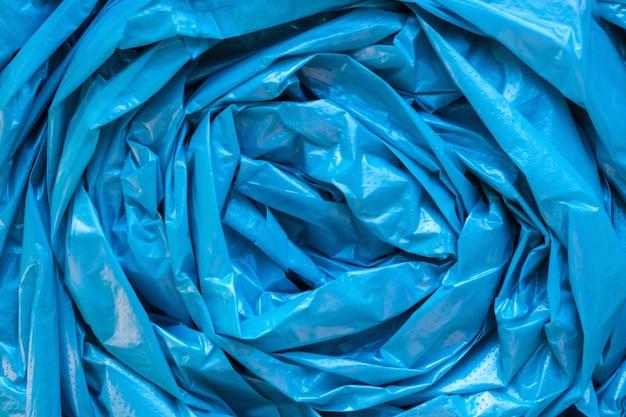 Blaue müllsackbeschaffenheit