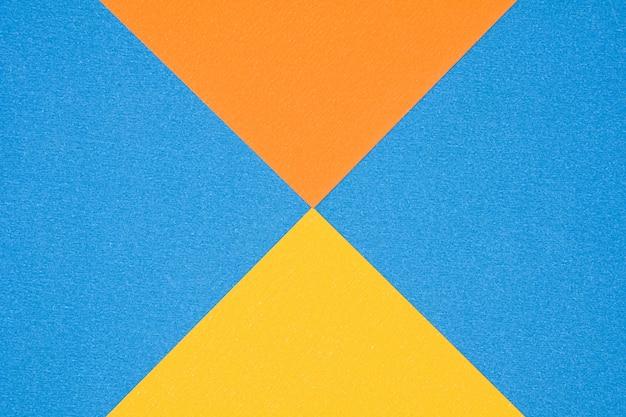 Blaue, orange und gelbe papierbeschaffenheit