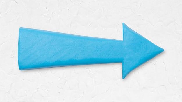 Blaue pfeil-ton-textur, die rechte handarbeitsgrafik für kinder zeigt