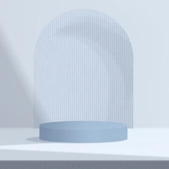 Blaue produktkulisse mit designraum