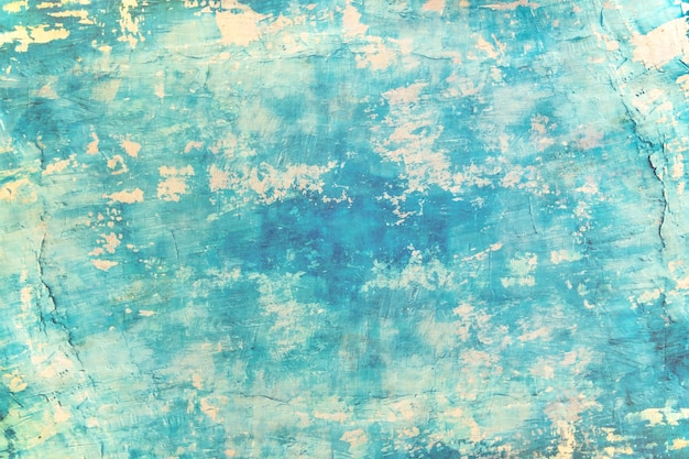 Blaue seefarbfarbe der leeren schmutzbetonmauer für beschaffenheit. vintage hintergrund