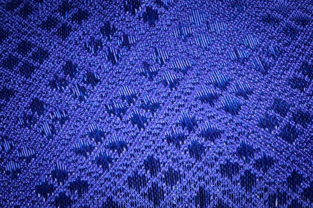 Blaue seide mit königlichem hintergrund der weinlese. luxus-webstruktur aus thailändischer seide.