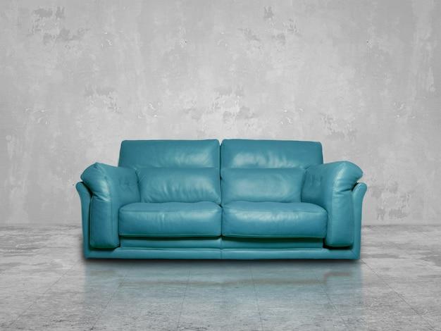 Blaue sofa