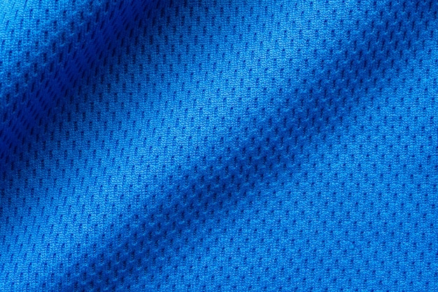 Blaue sportbekleidung stoff fußball shirt trikot textur