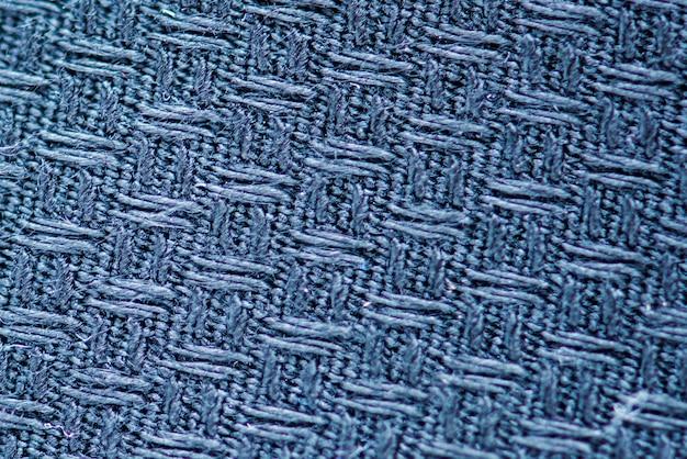 Blaue stoffnahaufnahme