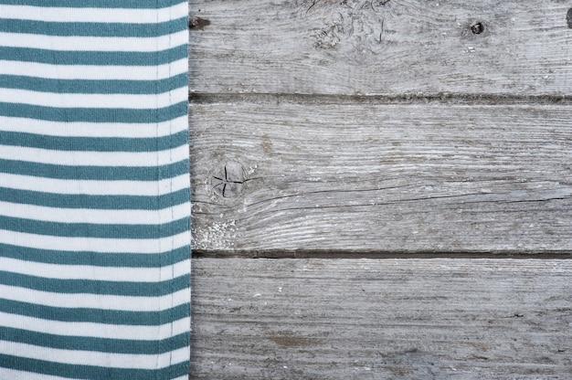 Blaue streifen textil, serviette, tischdecke