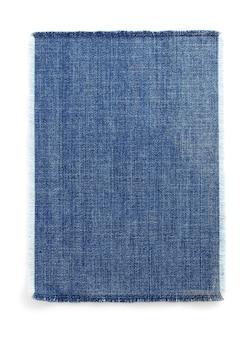 Blaue textur der jeans auf weißem hintergrund
