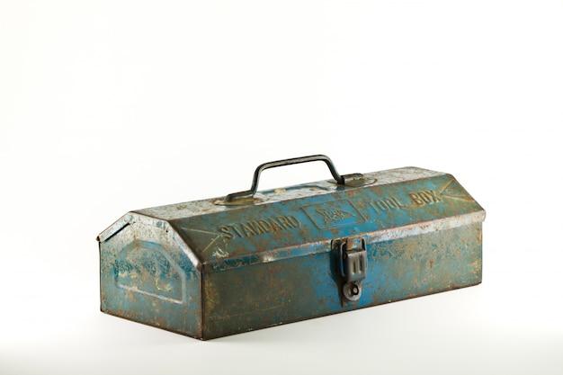 Blaue toolbox - isoliert auf weißem hintergrund.