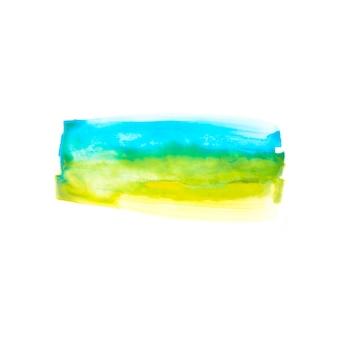 Blaue und gelbe linie auf papier
