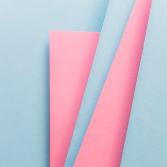 Blaue und rosa abdeckungsplan-materialschablone