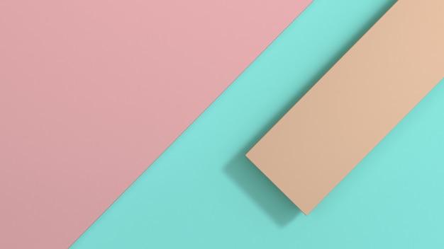Blaue und rosafarbene wiedergabe 3d