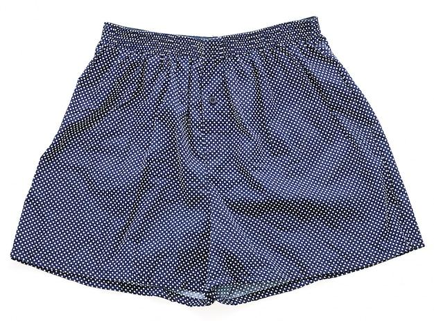 Blaue unterhose mit weißen details