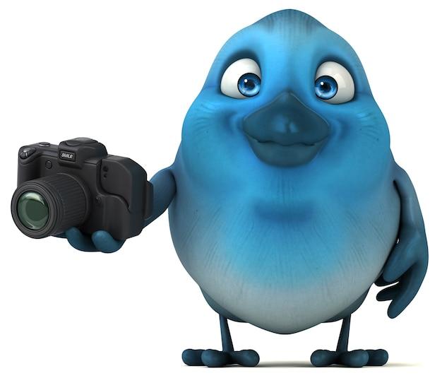 Blaue vogelillustration